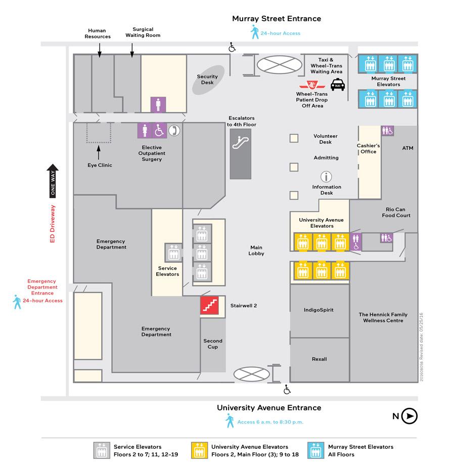 medium resolution of mount sinai hospital lobby construction floor map