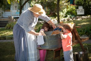 Washing exhibit at Mount Tabor House Tour