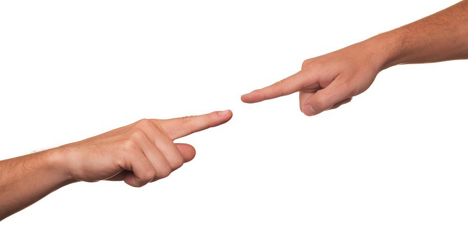 dealing with a blamer; finger pointing