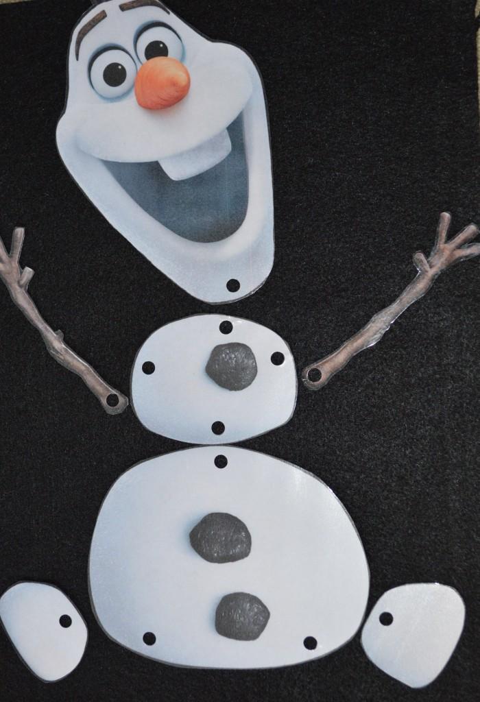 Lets Build An Olaf Snowman Puppet Mouse Ears Mom
