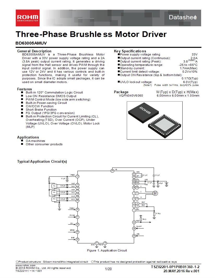 hight resolution of brushless dc motor controllers 2 a motor motion ignition controllers drivers mouser canada