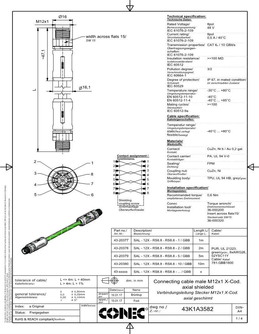 M12 Ethernet Wiring Diagram