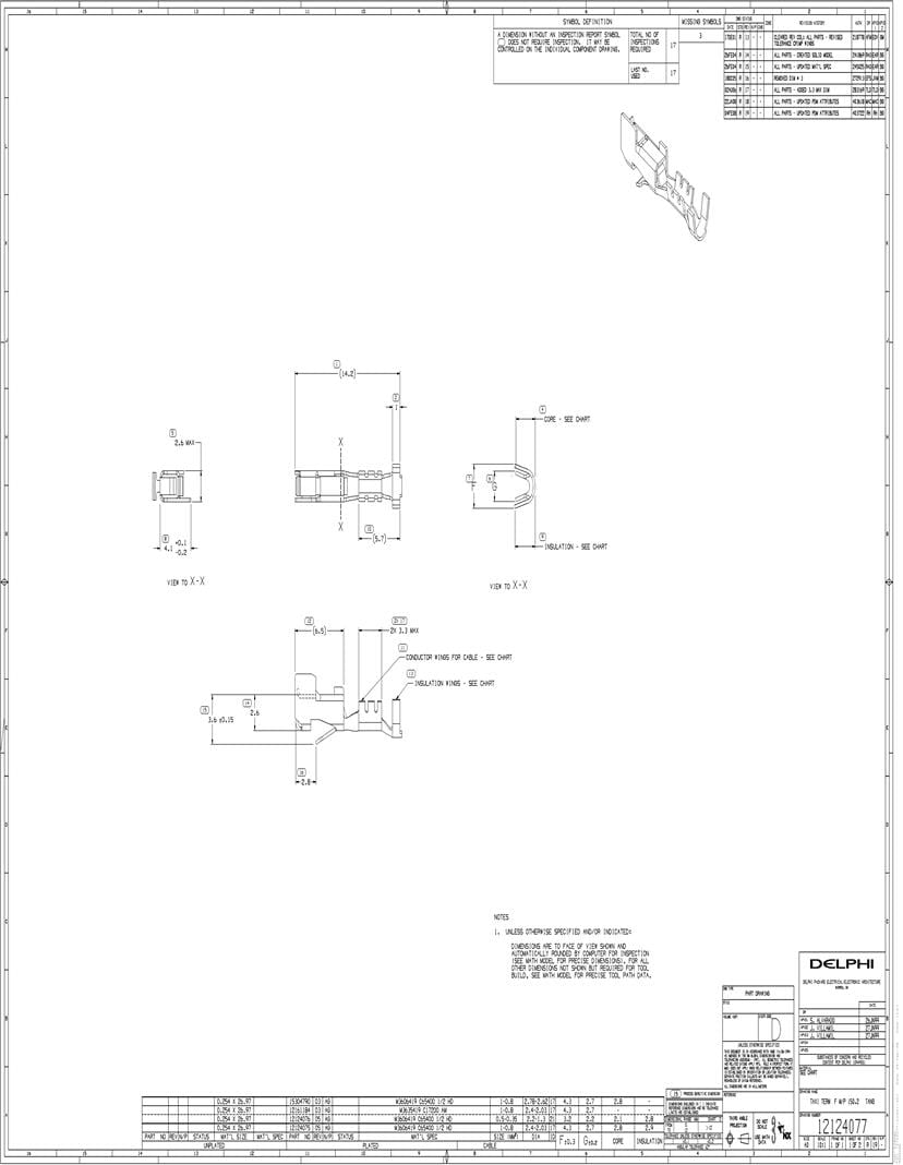 hight resolution of delphi unsealed terminals aptiv automotive connectors datasheets