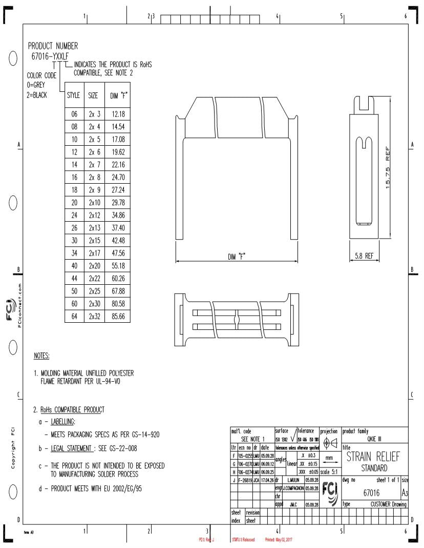 hight resolution of 67 016 01 headers wire housings datasheets