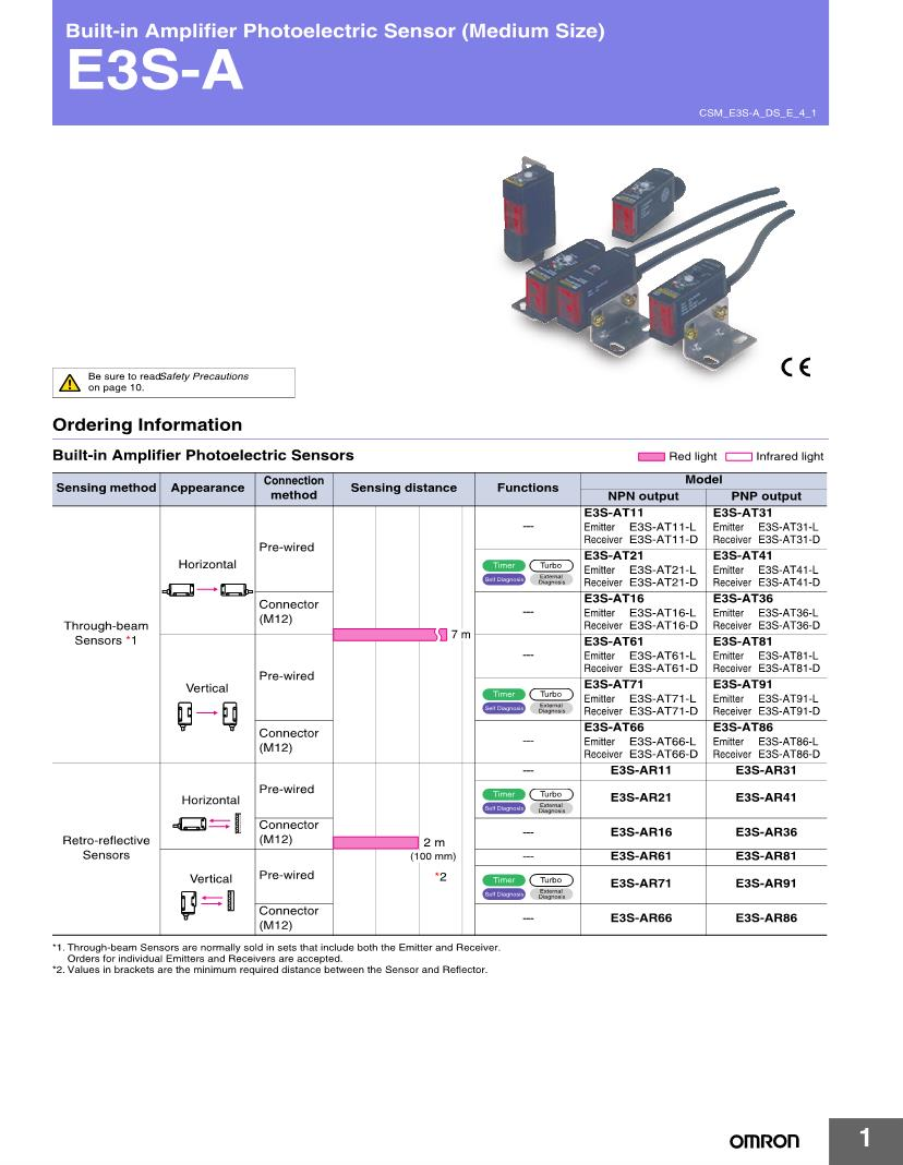 medium resolution of e3sat66 omron photoelectric sensors datasheets