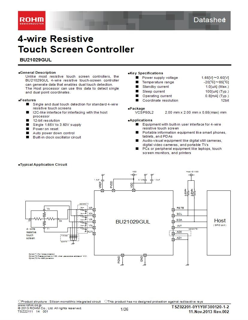hight resolution of dual touch screen wiring diagram wiring diagram specialties100270209 rohm semiconductor touch screen controllers mouserdual touch screen
