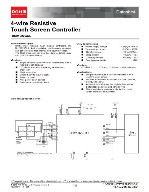 small resolution of dual touch screen wiring diagram wiring diagram specialties100270209 rohm semiconductor touch screen controllers mouserdual touch screen