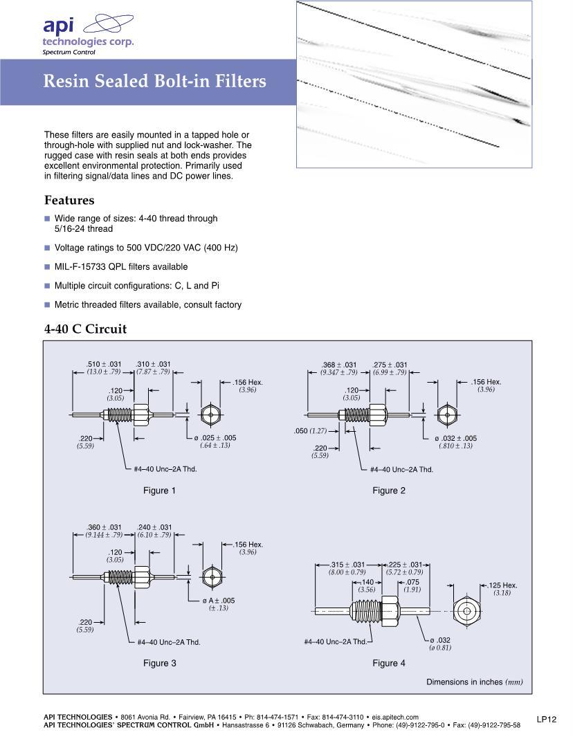 hight resolution of pi filter emi feedthrough filters datasheets mouser type feedthrough filter circuit diagram