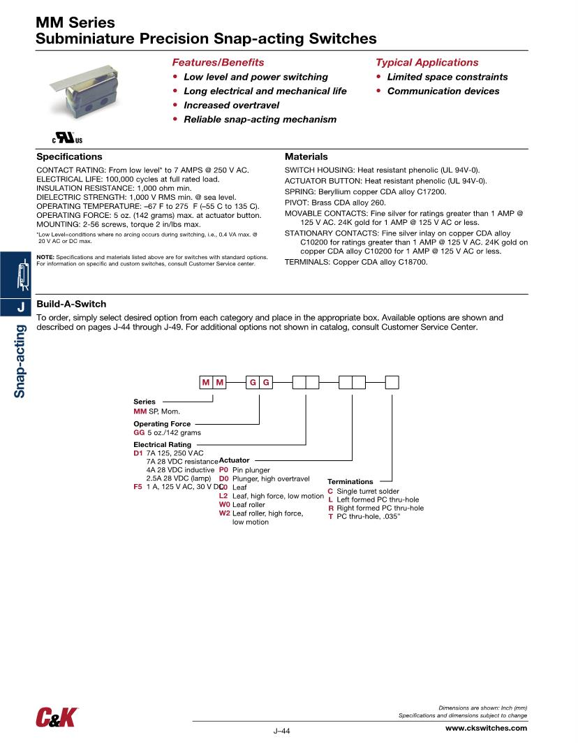 medium resolution of wrg 8679 c u0026k switches basic snap action switches mouserbeautiful 2 way electrical switch wiring diagram if you want to acquire all of these incredible