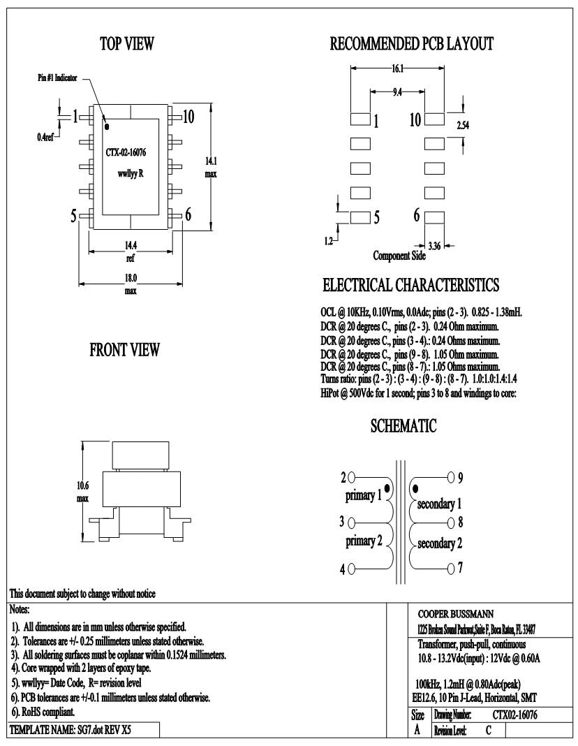 hight resolution of coiltronics eaton transformers datasheets