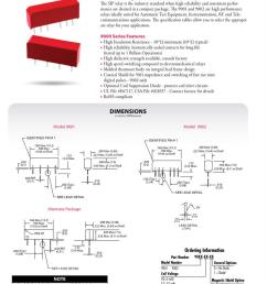 5 vdc no spst 1 form a 500 ohms reed relays datasheets [ 828 x 1068 Pixel ]