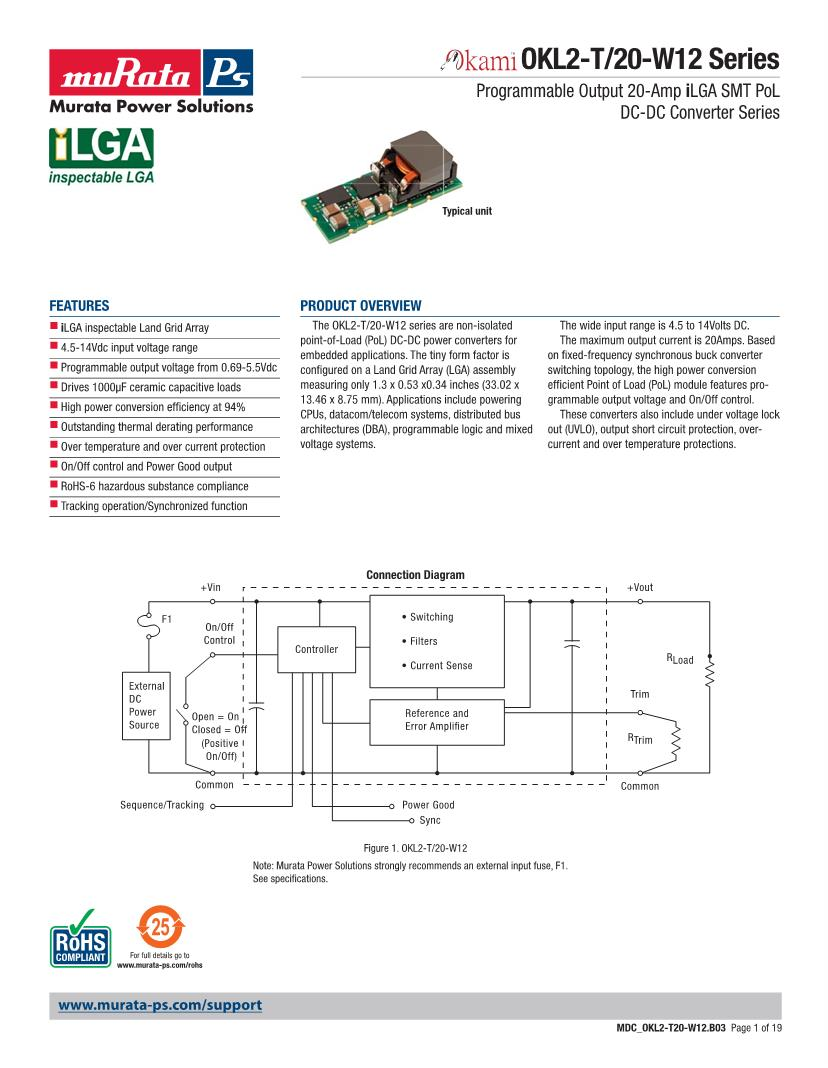 hight resolution of okl2 t 20 w12 murata non isolated dc dc converters datasheets