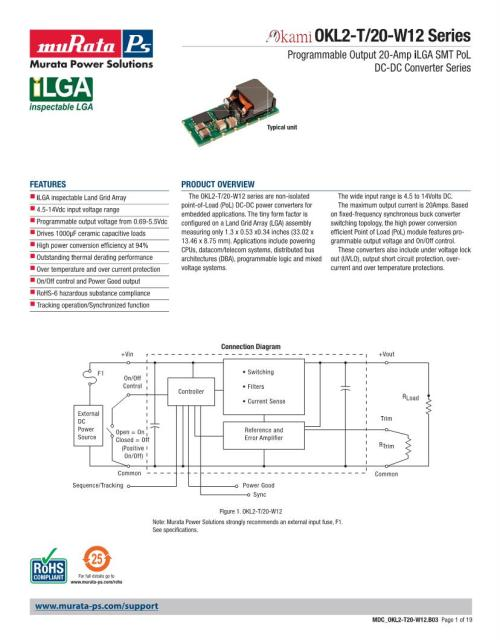 small resolution of okl2 t 20 w12 murata non isolated dc dc converters datasheets