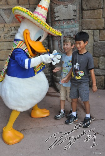 Two of Donald Duck's #1 fans.