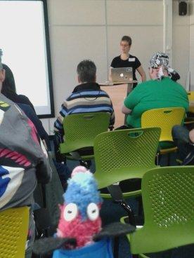 Ratvaark watches a presentation