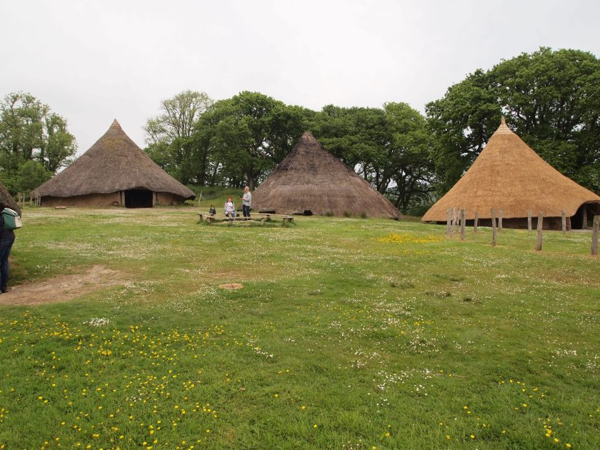 A scene of iron age roundhouses