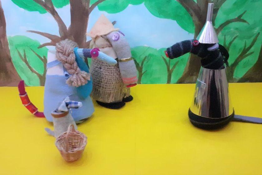 the party meet bernard dressed as the tin man