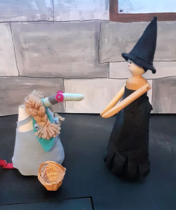 the witch shouts at Dorothy