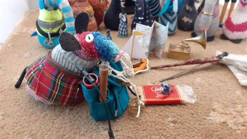 Ratvaark has packed a lot into his rucksack, but the bigger items remain.