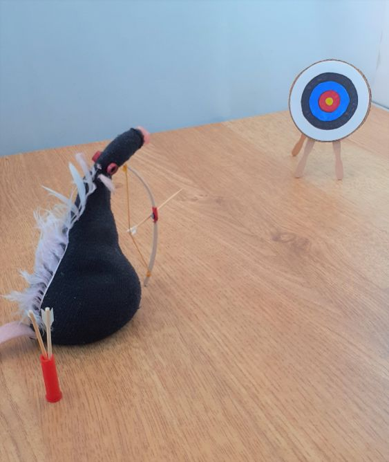 fury aims at the target
