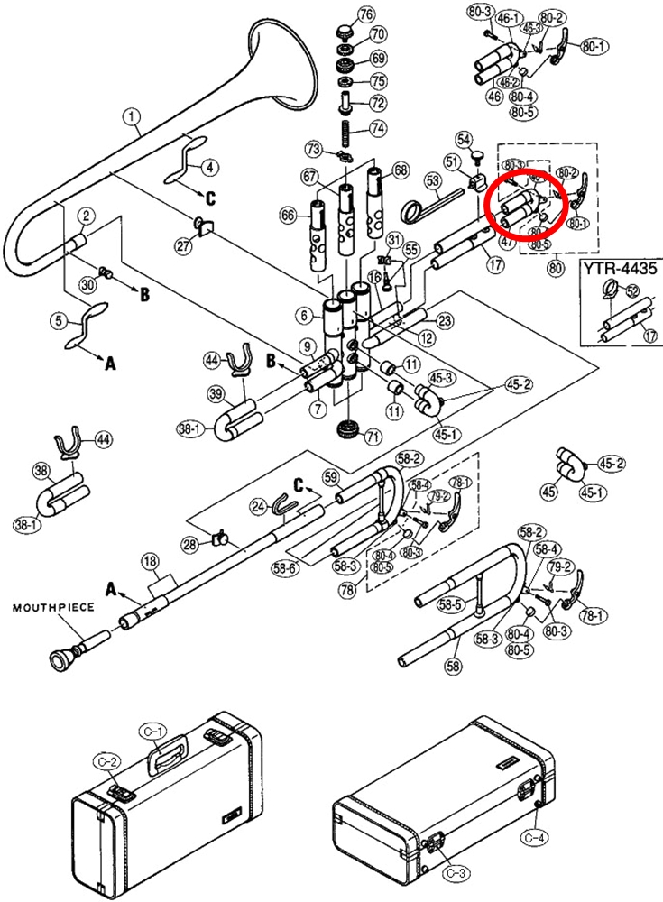 Yamaha Trumpet Parts : Mouthpiece Express