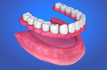 Image of full lower denture