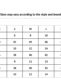 Sizing chart for ozsale clothing also zara size yellow dresses rh ysaelloweswaspot