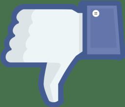 Pulgar tipo Facebook hacia abajo