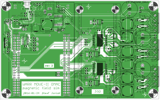 Layout of the ADCS test bench board.
