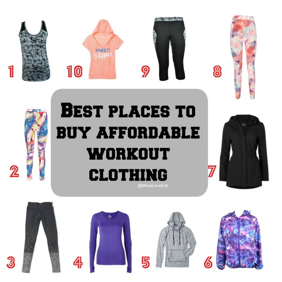 The Best Places to Buy Affordable Workout Clothing - Move ...
