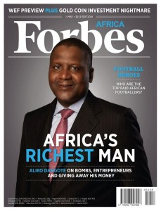 Forbes Magazine Dangote Cover