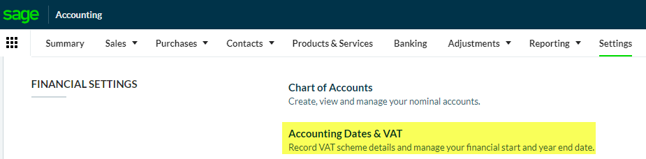 Accounting dates and VAT