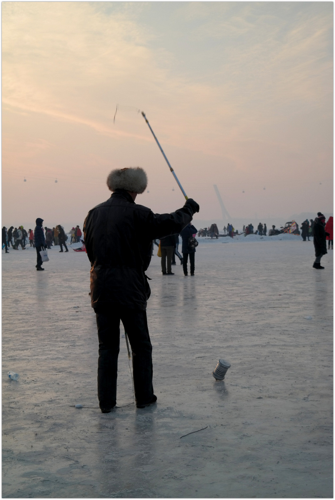 China Harbin Frozen river
