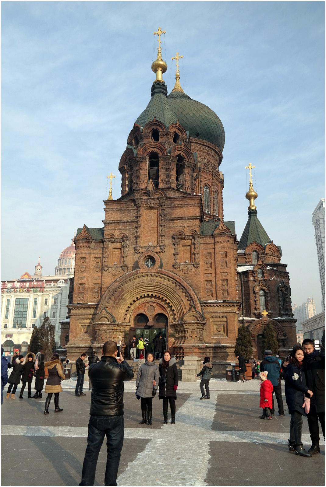 China Harbin Main square - orthodox church