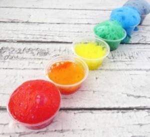 Rainbow volcano crafts