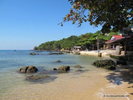 A beachside view of Sihanoukville, Cambodia