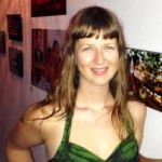 Lauren Crothers at her photograph exhibition