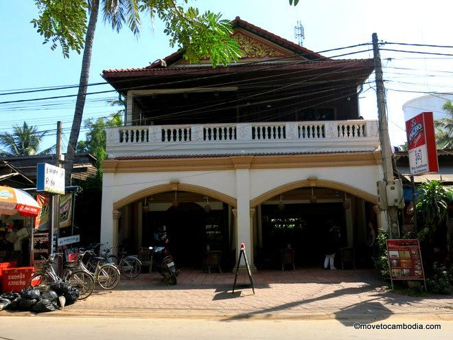 The outside of Rosy Guesthouse, Siem Reap