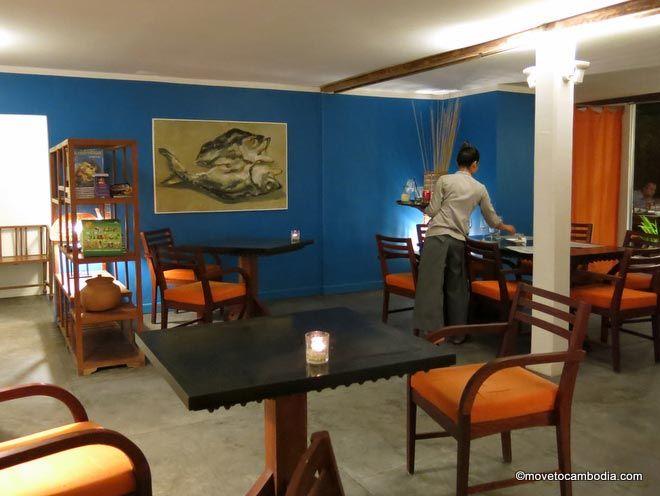 The interior of Siem Reap's Cuisine Wat Damnak
