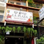 The outside of La Plaza Spanish Tapas Bar in Phnom Penh, Cambodia.