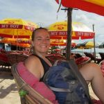 Kelly enjoying some Cambodia beach time.