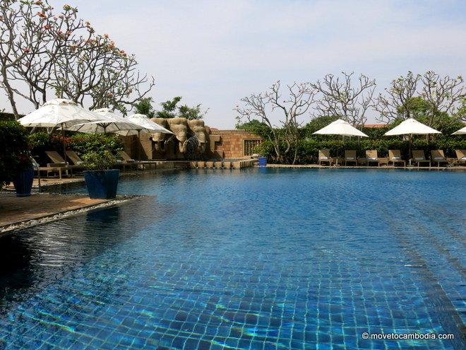 InterContinental Hotel Pool in Phnom Penh, Cambodia