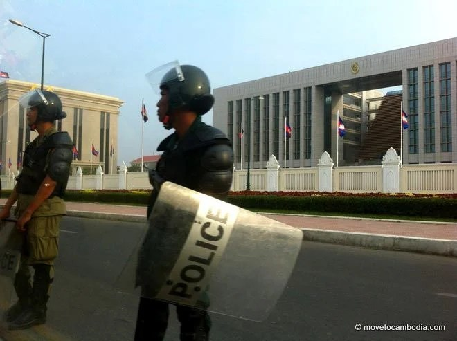 Phnom Penh riot police
