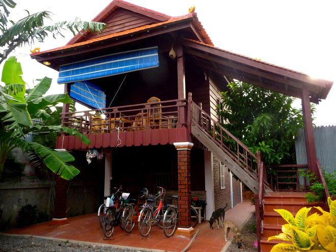 Battambang wooden house