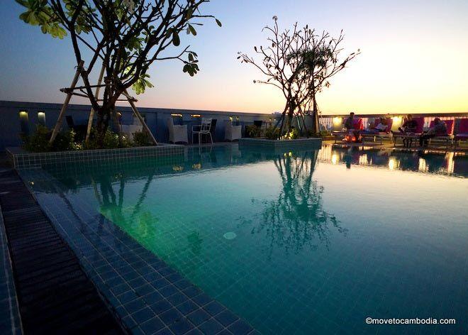 Sunset at the Frangipani Royal Place Hotel.