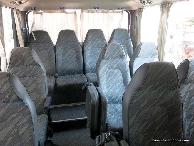Giant Ibis bus interior Phnom Penh to Kampot