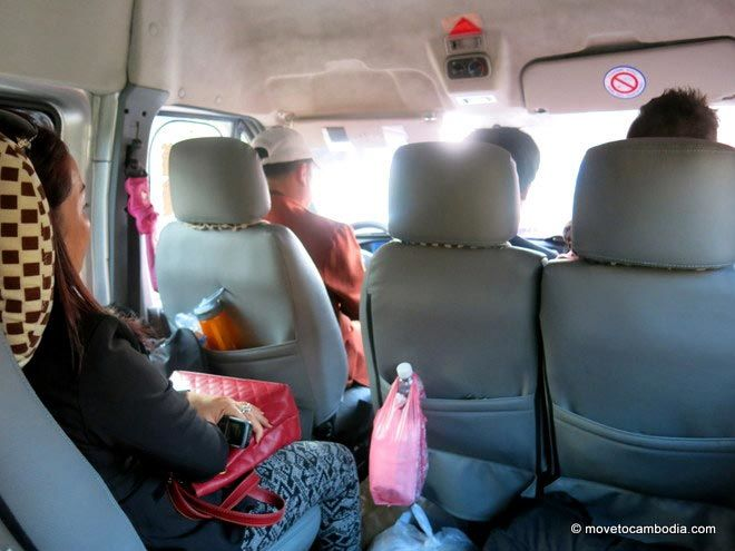 Seila Angkor Mini Bus Interior