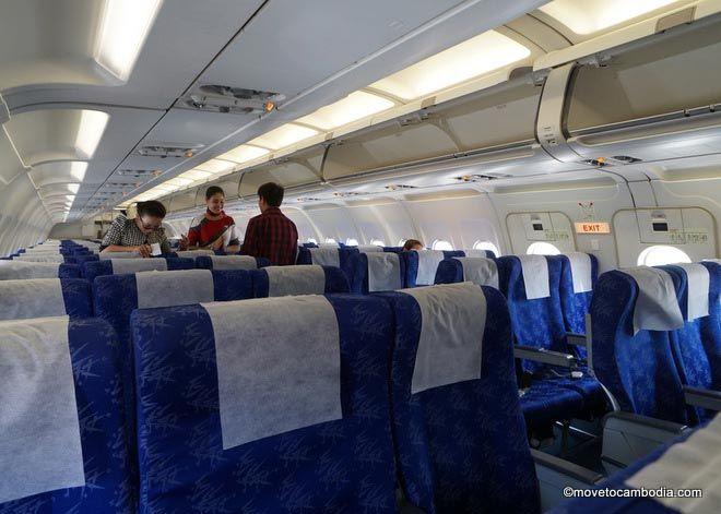 Cambodia Bassaka Air cabin