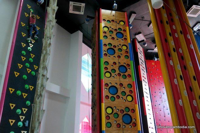 Climbing wall clip n climb Kids City Phnom Penh