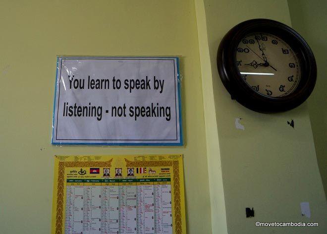 Learning Khmer through listening, not speaking